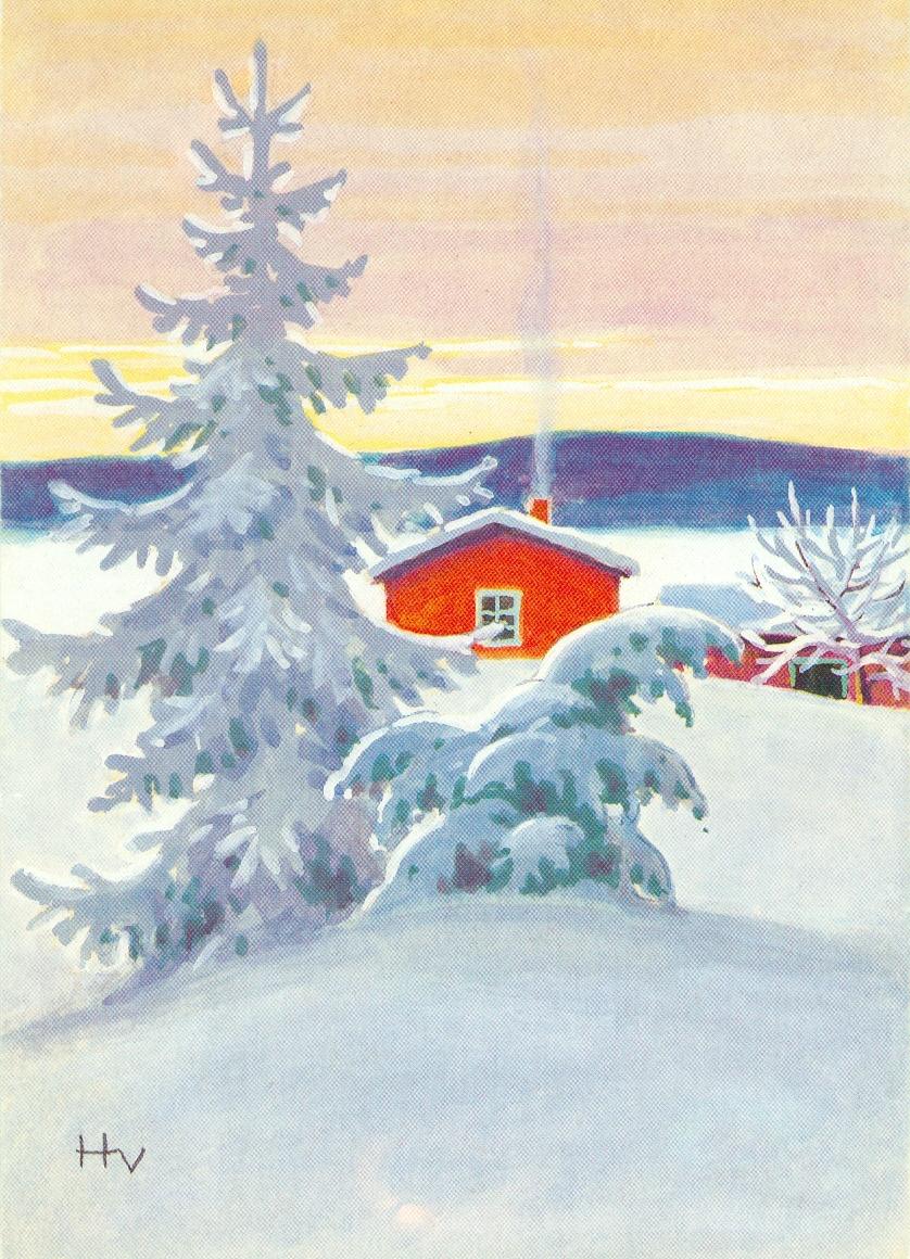 Советские открытки зимние пейзажи