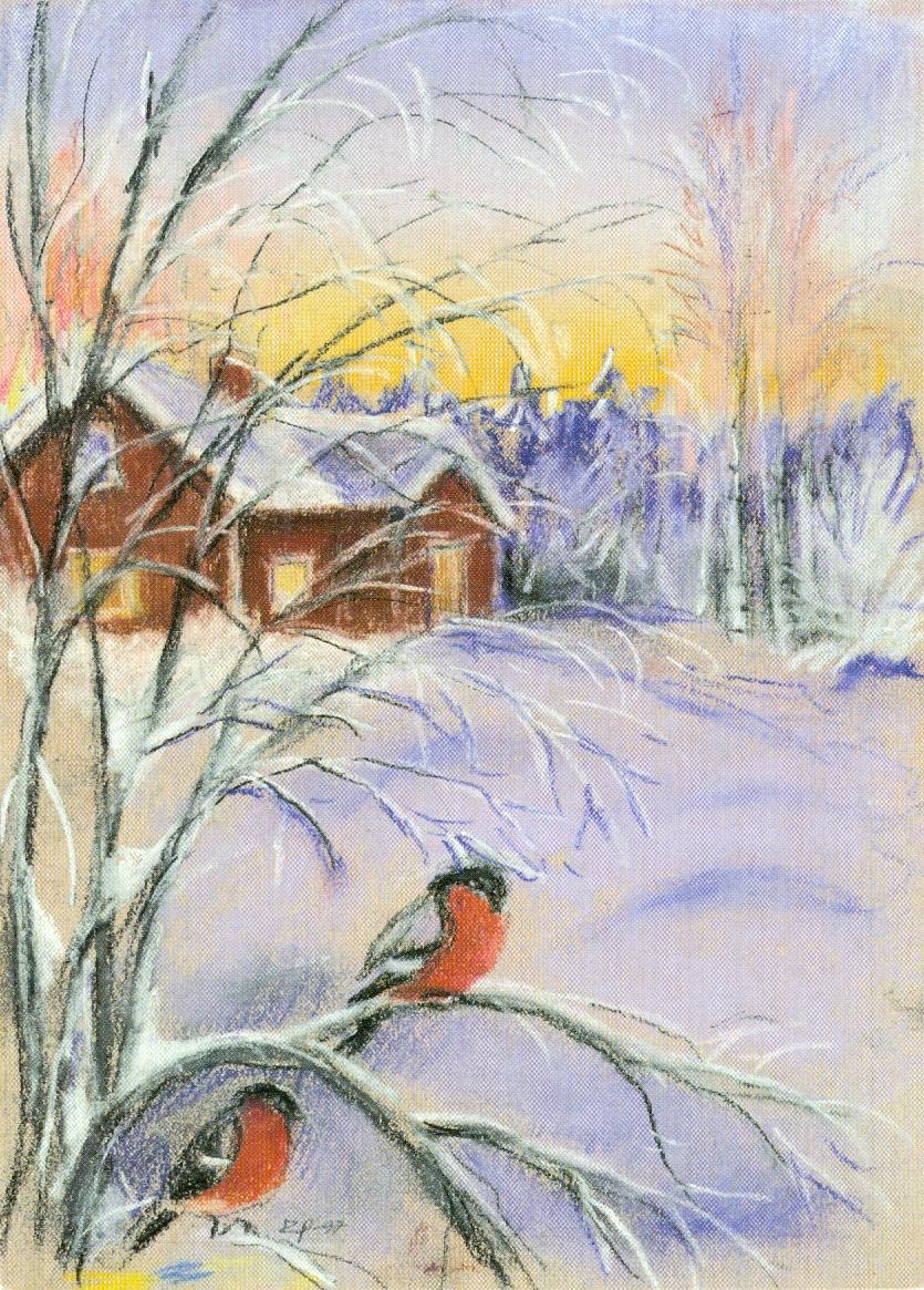результате картинки зимние пейзажи рисовать девушки боятся носить