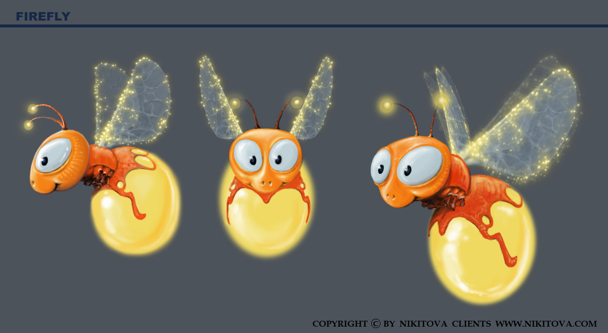 Firefly Cartoon Background Firefly Forest Cartoon
