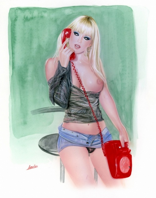 Fantasy and pin-up artist illustrator Lorenzo Sperlonga (344 работ)