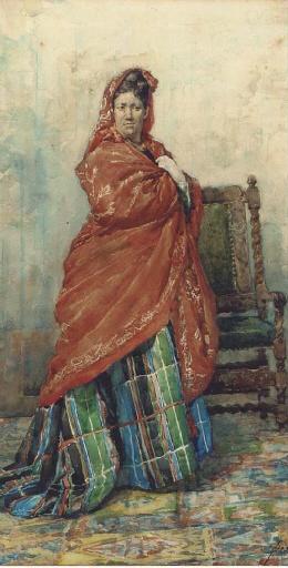 Испанский художник Francisco Pradilla y Ortiz (1848-1921) (55 работ)