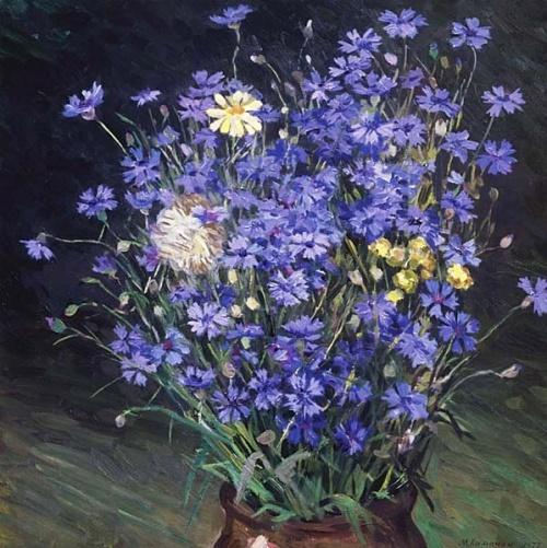 Васильки в живописи (89 работ)