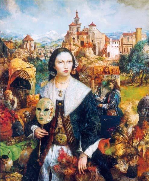 Венецианские маски в живописи (67 работ)