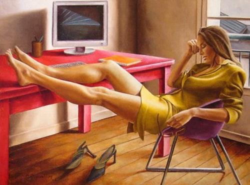 Художник Annick Bouvattier (100 работ)