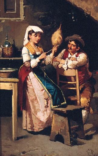 Итальянский художник Francesco Peluso (1836-1916) (29 работ)