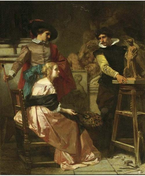 Бельгийский художник Florent Willems (1823-1905) (61 работ)