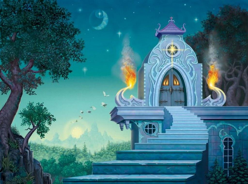 картинки замки сказочные