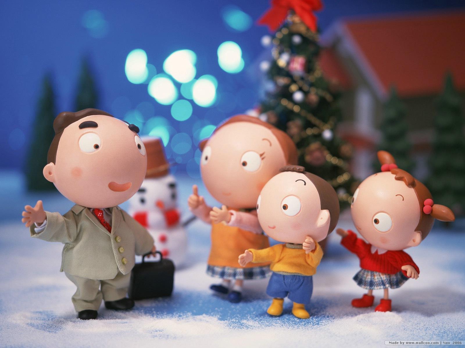 Анимации на новый год с семьей