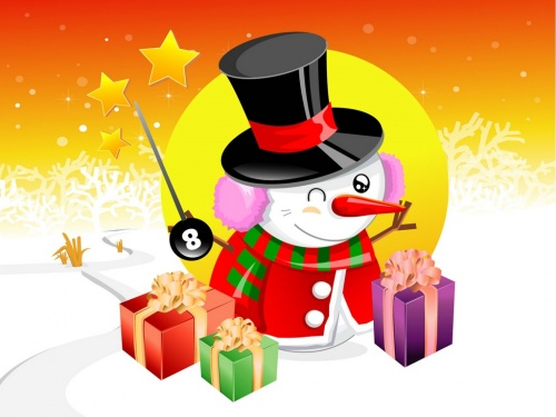 Funny Christmas Illustration 2 (69 открыток)