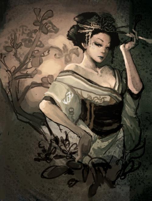 Художница Lange Wong (29 работ)