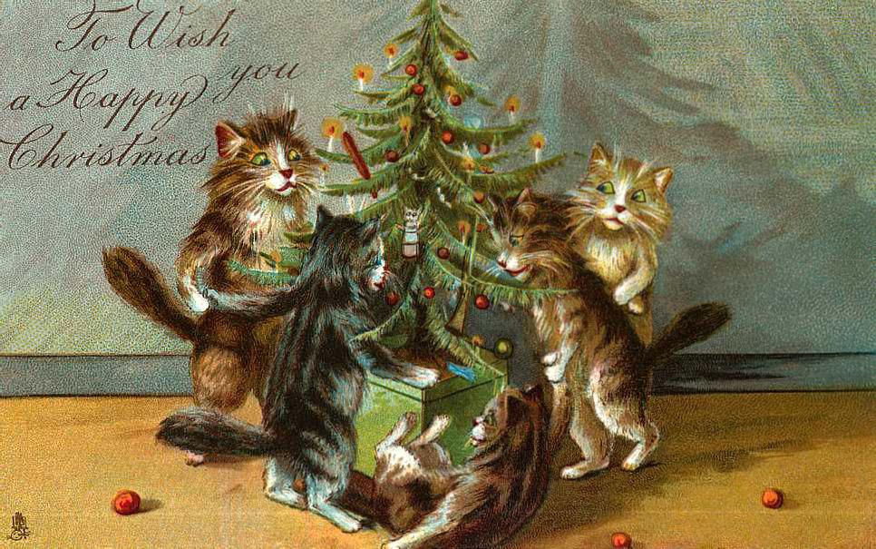 Винтажные открытки рождеством