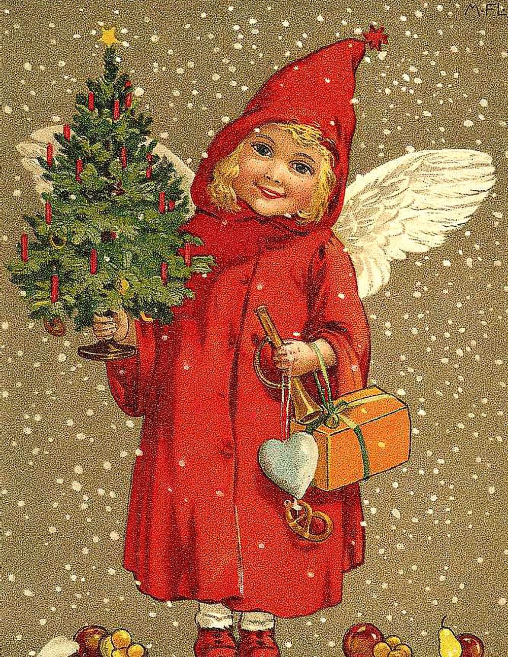 Винтажные открытки рождественские 74