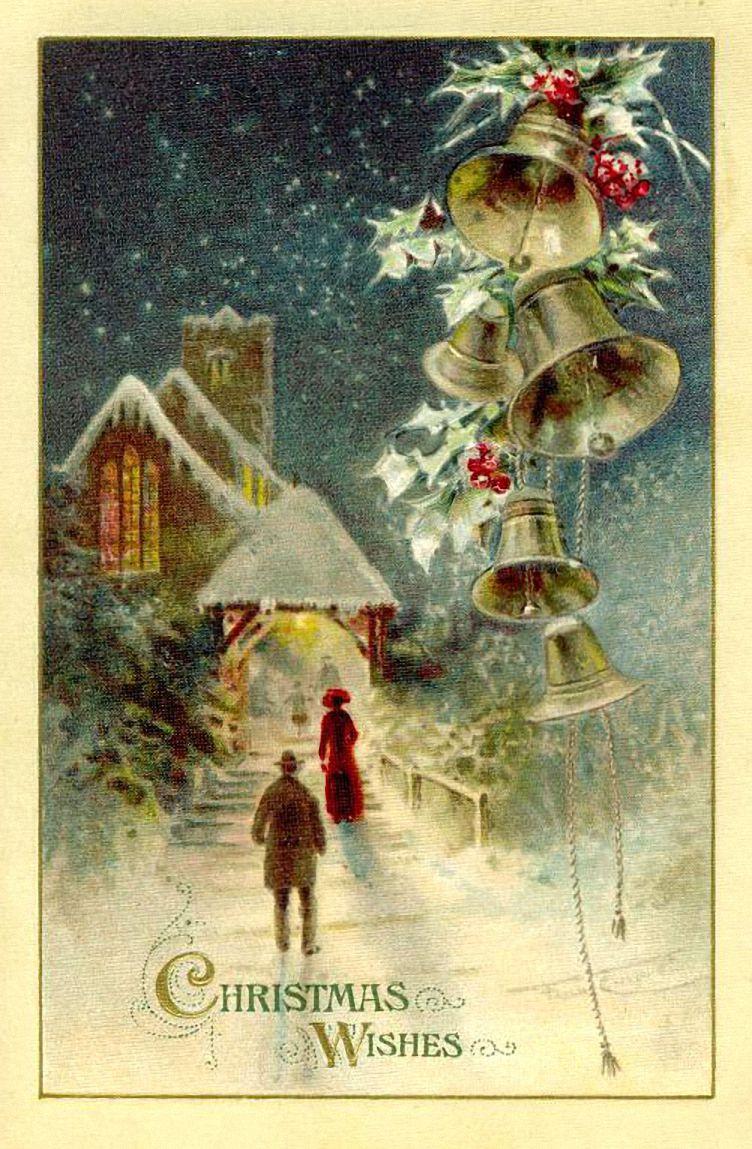 Винтажные открытки рождественские 20