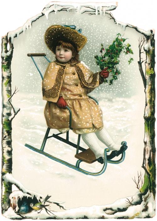 Рождество. Винтажные открытки и изображения (163 работ)