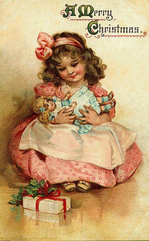 Девочка с куклой открытка 12