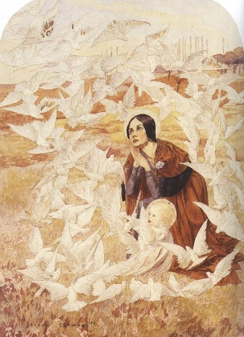 Немецкий живописец-символист Carlos Schwabe (1877-1926) (131 работ)