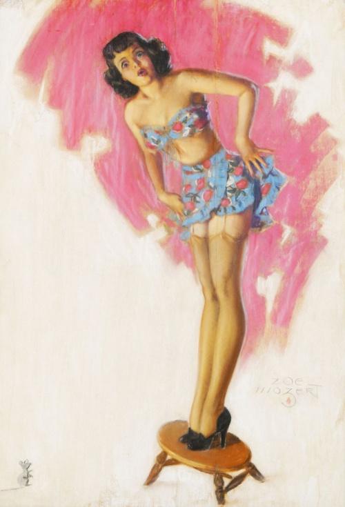 Американский художник-иллюстратор Zoe Mozert (1904-1993) (136 работ)