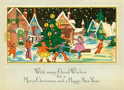 New Year postcard of the twentieth century # 1 \ Новогодняя и рождественская открытка ХХ века #1 (50 открыток)