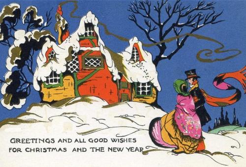 New Year postcard of the twentieth century # 1  Новогодняя и рождественская открытка ХХ века #1 (50 открыток)